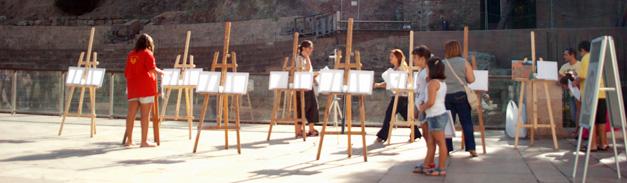 Taller de pintura en la calle